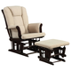 Coaster Glider and Ottoman 650011