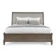 Bernhardt Belgian Oak Queen Upholstered Sleigh Bed in French Truffle