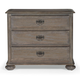 Bernhardt Belgian Oak Three Drawer Nightstand with Intricately Crafted Hardware in French Truffle 337-232
