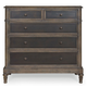Bernhardt Belgian Oak Five Drawer Chest with Inset Metal Fronts in French Truffle 337-034M