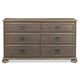 Bernhardt Belgian Oak Dresser with Drop Down Top Drawer Fronts in French Truffle 337-042