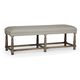 Bernhardt Belgian Oak Upholstered Bench in French Truffle 337-508
