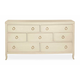 Bernhardt Salon Seven Drawer Dresser with Bowed Front in Alabaster 341-042