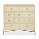 Bernhardt Salon Media Chest with Drop Front Drawers in Alabaster 341-118