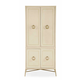 Bernhardt Salon Four Door Cabinet with Large Ring Pulls in Alabaster 341-142-141