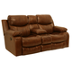 Catnapper Dallas Power Reclining Console Loveseat w/Storage in Tobacco 64959