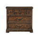 Bernhardt Vintage Patina Bachelor's Chest with Burnished Brass Knobs and Pulls in Tobacco 322-230