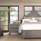 Bernhardt Belgian Oak Curved Crown Panel Bedroom Set in French Truffle