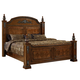Fairfax Home Furnishings Orleans King Poster Bed in Antique Brown