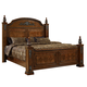 Fairfax Home Furnishings Orleans Cal King Poster Bed in Antique Brown