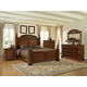 Fairfax Home Furnishings Orleans Poster Bedroom Set in Antique Brown