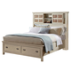 Fairfax Home Furnishings Pacifica Queen Storage Panel Bed in Burnished Crème