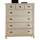 Fairfax Home Furnishings Pacifica Drawer Chest in Burnished Creme 9400-07