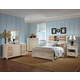 Fairfax Home Furnishings Pacifica Storage Panel Bedroom Set in Burnished Crème
