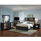 Fairfax Home Furnishings Pacifica Storage Panel Bedroom Set in Burnished Ebony