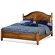 Fairfax Home Furnishings Taylor California King Poster Bed in Deep Honey Maple