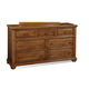 Fairfax Home Furnishings Taylor Drawer Dresser in Deep Honey Maple 5043-10