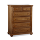 Fairfax Home Furnishings Taylor Drawer Chest in Deep Honey Maple 5043-07