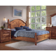 Fairfax Home Furnishings Taylor Poster Bedroom Set in Deep Honey Maple