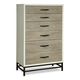 Universal Furniture Great Rooms Spencer Chest in Gray/Parchment 219150