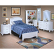 New Classic Victoria Youth Panel Bedroom Set in White Finish 623