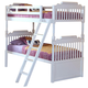 New Classic Alexandra Youth Twin Bunk Bed in Rubbed White 05-106-518B-T