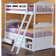 New Classic Alexandra Youth Twin Over Full Bunk Bed with Storage in Rubbed White 05-106-598B-TF