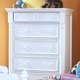 New Classic Alexandra 5-Drawer Youth Chest in Rubbed White 05-106-072