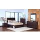 New Classic Century City Storage Bedroom Set in Sable 00-801