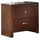 New Classic Kensington 2 Drawer Nightstand in Burnished Cherry 00-060-040