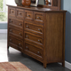 New Classic Logan 10-Drawer Dresser in Spice 00-100-050