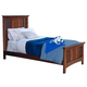 New Classic Logan Youth Full Panel Bed in Spice 05-100-415