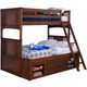 New Classic Logan Youth Twin Over Full Bunk Bed in Spice 05-100-518B-F