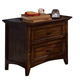 New Classic Logan Youth 2-Drawer Nightstand in Spice 05-100-042