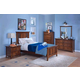 New Classic 4-pc Logan Youth Panel Bedroom Set in Spice