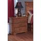 New Classic Oakridge 3-Drawer Nightstand in Tawny Finish 00-165-040