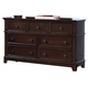 New Classic Prescott 7-Drawer Dresser in Sable 00-181-050