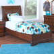 New Classic Sheridan Youth Full Panel Bed in Burnished Cherry 05-005-410