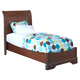 New Classic Sheridan Youth Twin Panel Bed in Burnished Cherry 05-005-510