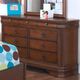 New Classic Sheridan Youth 9-Drawer Dresser in Burnished Cherry 05-005-052