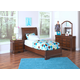 New Classic Sheridan 4-pc Youth Panel Bedroom Set in Spice 05-005-PANEL