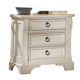 American Woodcrafters Heirloom Collection Night Stand in Antique White 2910-430