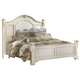 American Woodcrafters Heirloom Collection King Poster Bed in Antique White 2910-66POS