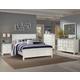 New Classic Tamarack Panel Bedroom Set in White 00-044