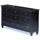 New Classic Tamarack 8-Drawer Dresser in Black 00-045-050