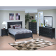 New Classic Tamarack Panel Bedroom Set in Black 00-045