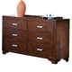 New Classic Urbandale 6-Drawer Dresser in Tobacco 00-050-050
