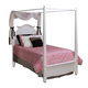 New Classic Victoria Youth Twin Poster Bed in White 05-621-511