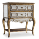 Hooker Furniture Sanctuary 2-Drawer Mirrored Leg Nightstand in Bling 3016-90015