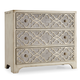 Hooker Furniture Sanctuary 3-Drawer Fretwork Chest in Pearl Essence 3023-85001
